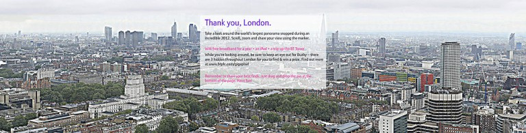 320 гигапиксельная панорама Лондона