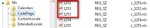 Реестр. Кодировка Windows