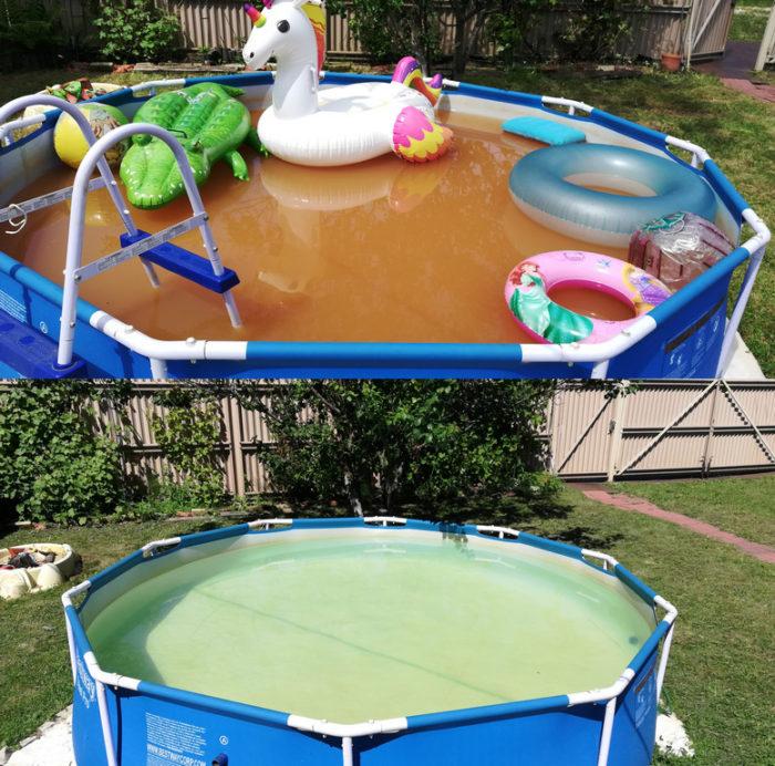 Доработка очистки бассейна на даче